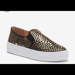 Gold studded Vince Camuto sneakers